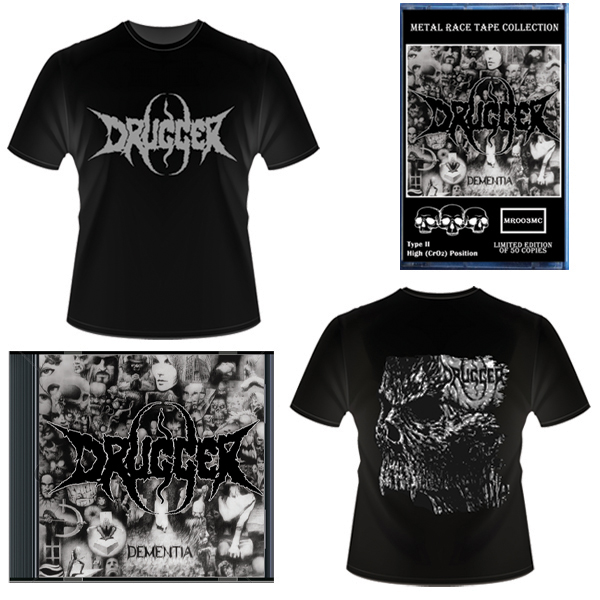 Drugger - Dementia (T-Shirt+CD+MC) - PRE-ORDER / ПРЕДЗАКАЗ
